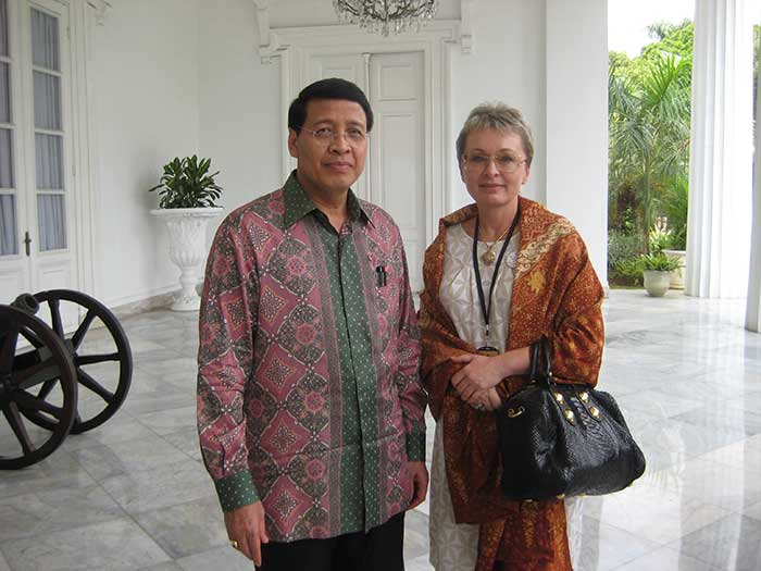 Ms Irina Gorbulina, Part Of The Friends Of President Of Indonesia Program
