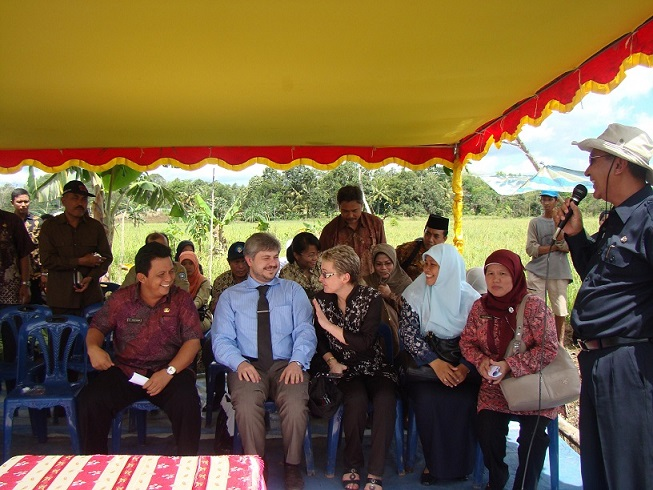 With Mayor Of Bintan At The Annual Rice Harvest Ceremony