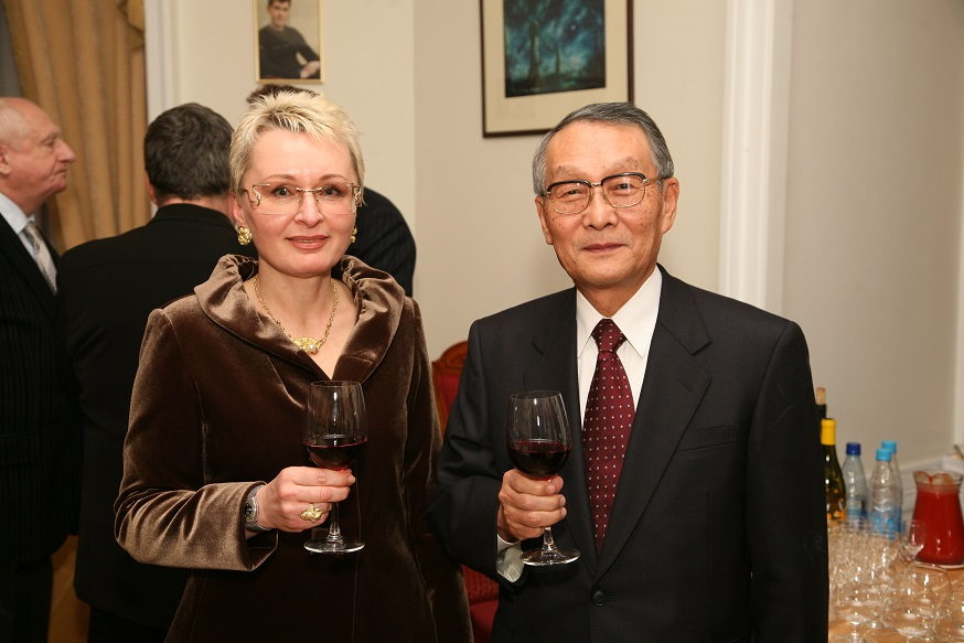 With Mr Mikio Sasaki, Chairman Of The Board Of Mitsubishi Corporation
