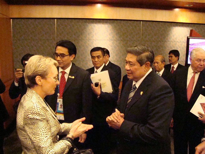 With The President Of The Republic Of Indonesia, Dr. Susilo Bambang Yudhoyono