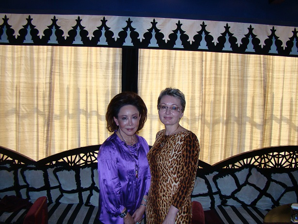 With Cheif Editor Of Tatler, Indonesia