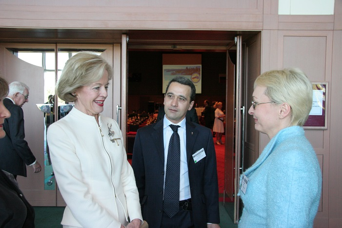 Ms Irina Gorbulina With The Honourable Dame Quentin Bryce