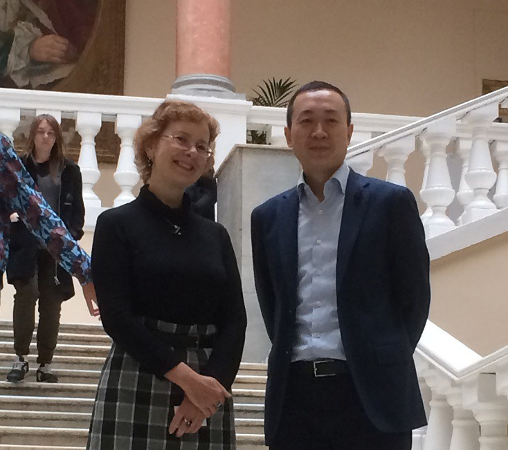 Ms Ivanova With Ling Feng (CIFI Holding) Chairman Of CURA Delegation